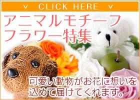アニマルモチーフフラワーギフト-花屋-フラワーギフト-インターネット宅配花屋さん花RiRo