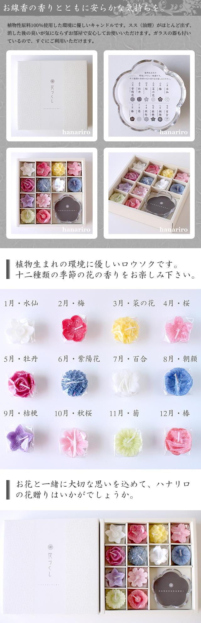 アレンジ「花ずくし(ロウソク)」/プリザーブドフラワーギフト