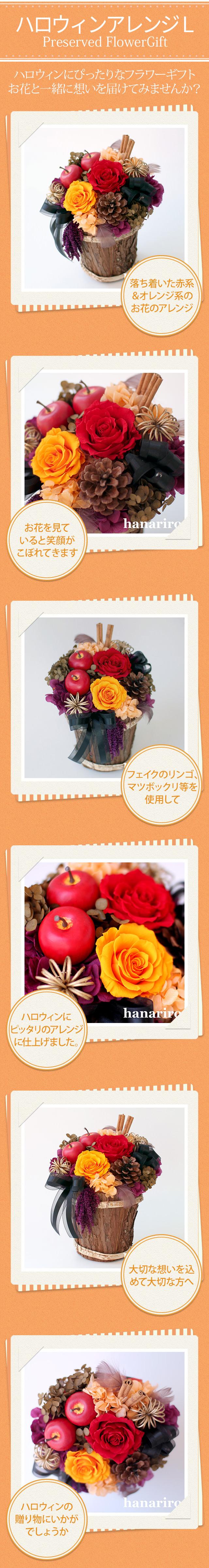 アレンジ「ハロウィンアレンジL」/プリザーブドフラワーギフト