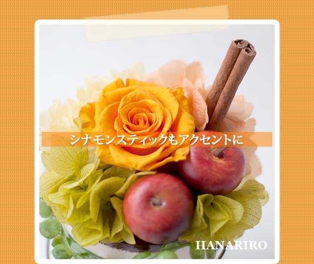 アレンジ「アンティークポット(アップル)」/プリザーブドフラワーギフト