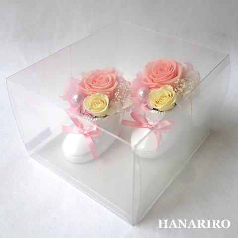 アレンジ「ベビーシュー(ピンク)(クリアケース入)」