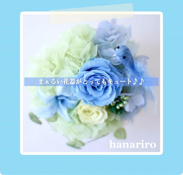 アレンジ「幸せの青い鳥(ブルーS)」/プリザーブドフラワーギフト