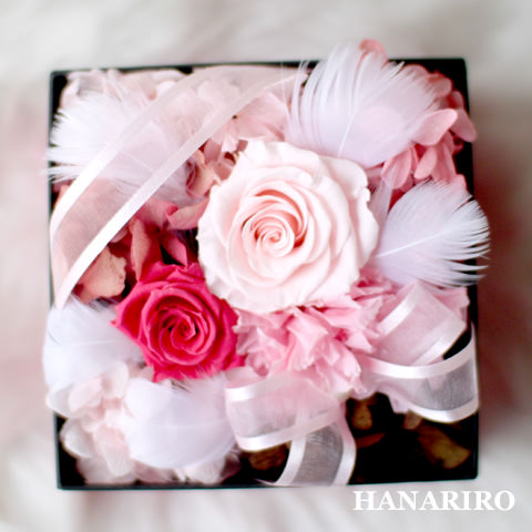 アレンジ「ファンシーBOX(ピンク)」