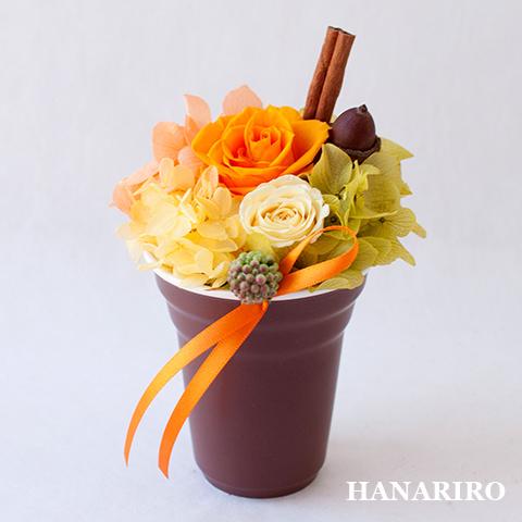 アレンジ「プリフラ(オレンジ)(クリアケース入)」