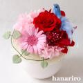 しあわせの青い鳥(赤ピンクS)/プリザーブドフラワー