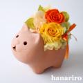 アレンジ「ネコさんアレンジ」/プリザーブドフラワー